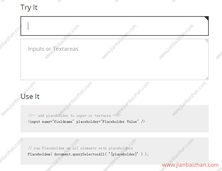点击表单输入框,提示文字逐一删除动画过度