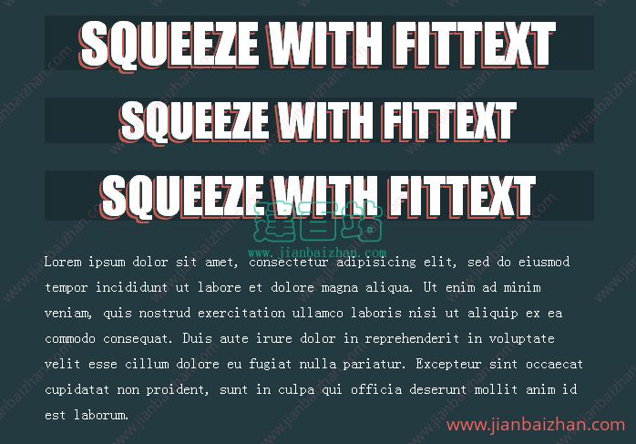 FitText.js响应式字体大小变化