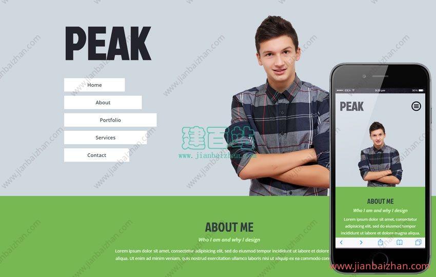 html5单页扁平化风格响应式布局网站模板