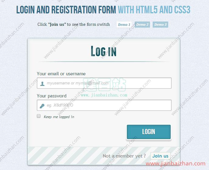 css3登录注册页面
