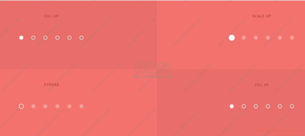 html5 svg+css3圆点导航按钮动画效果